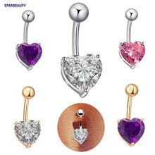 1pc Cute Heart Navel Piercing Nombril Sexy Women Belly Button Rings Navel Piercing Ombligo Body Piercings