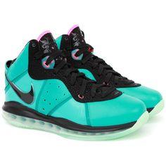 "8f7eb8e4dbfa3 Nike Air Max Lebron 8 ""South Beach"" Releasing Tomorrow ❤ liked on Polyvore  featuring"
