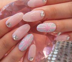 Round tip nails French Nail Designs, Short Nail Designs, Cool Nail Designs, Round Tip Nails, Pink Nails, My Nails, Dope Nails, Pastel Nails, Cherry Blossom Nails