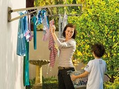 Hills Supa Fold Duo Washing Line in pebble beach beige provides drying space. Small frame can be used with large outer one folded down. Can be wall-mounted. Wall Mounted Washing Line, Washing Clothes, Diy Clothes, Summer Clothes, Midnight Sky, Ideas Hogar, Laundry Storage, Laundry Hanger, Pebble Beach