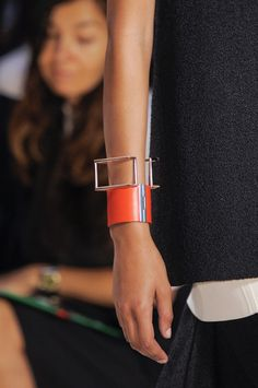 On Trend!  Stacking bracelets.  Céline Spring 2014