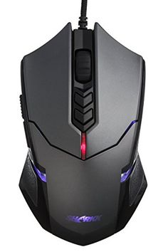 SHARKK® Wired Gaming Mouse With Programmable Buttons And Customizable Weight Tuning Cartridges High Precision Optical Gaming Mouse With Adjustable DPI Up To 3500 SHARKK