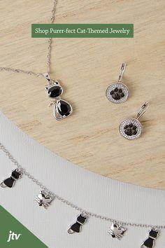 by JTV Cat Jewelry, Animal Jewelry, Metal Jewelry, Jewelry Accessories, Jewelry Design, Cat Facts, Watch Necklace, Cuddles, Pastries