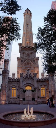 Chicago Water Tower ~ one of the ONLY buildings which did not burn during the great Chicago fire of 1871.