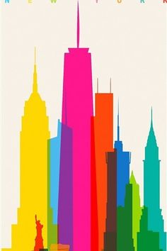 shapes of cities poster illustration design - new york - by yoni alter Inspiration Art, Graphic Design Inspiration, Plakat Design, Scale Art, Nyc Art, Art Graphique, Art And Illustration, Illustrations Posters, Building Illustration