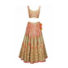 This golden and pink lehenga choli features in a couture gold silk with resham and dori embroidery and zardosi beads.This Golden and Pink Bridal Lehenga Choli comes along with a pink fully embroidered Indian Wedding Outfits, Indian Outfits, Indian Weddings, Pink Bridal Lehenga, Pink Lehenga, Kurta Lehenga, Lengha Choli, Lehenga Blouse, Indian Attire