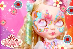 Customised Blythe doll inspired by the Lady Lovely Locks 80s dolls and cartoon, by Sheena Aw/ Caramel Pops