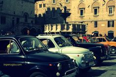 Perugia on Sept. 2 – Classic 500 cars in Perugia Fiat 500 Pop, 500 Cars, Living In Italy, Student Guide, Great Pictures, Car Ins, 6 Years, Beautiful Places, Study