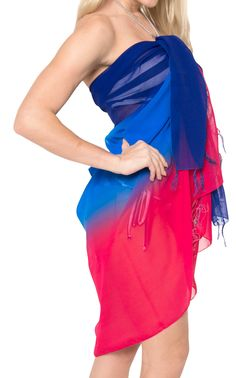 1b358ba657 HAPPY BAY Beach Wrap Sarong Swim cover up Women Hawaiian Skirt swimwear  Chiffon Print Wrap