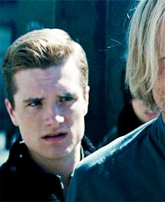 Josh Hutcherson's facial expression in Catching Fire