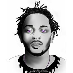 Kendrick Lamar digital art by Lisa Wong