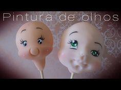 Aula de pintura de olhos em biscuit - YouTube