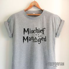 Harry Potter Shirts Harry Potter Merchandise Mischief Managed T Shirts Clothes Apparel Top Tee for Women Girls Men