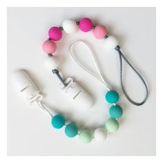 Silicone Teething Pacifier Clip by BabyBeesAndPeonies on Etsy