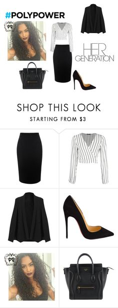 """""""her generation"""" by epa1412 ❤ liked on Polyvore featuring Alexander McQueen, Christian Louboutin and PolyPower"""