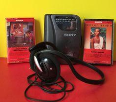 Sony Walkman Portable FM Am Radio Cassette Player Headphones 2 Cassettes | eBay