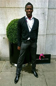 """Thanks to our friend Leroy for this shot and for """"playing"""" with FRED, 59BondSt's black patent shoes"""