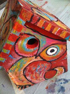 bird house -- LOVE painting on wood!