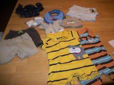 Newborn Boys Carters 11 piece lot Spring Summer Shorts outfits bib socks hat #Carters