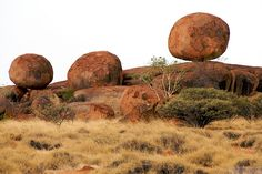 Devil's Marbles, Australia. Just north of Alice Springs in the center of the country. Such an odd series of rock formations.