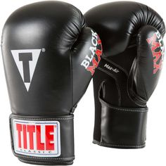 Title Classic Max Boxing Gloves, Black