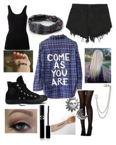 """""""Come as you are. Don't be someone else."""" by puppyness ❤ liked on Polyvore featuring Theory, Converse, Full Tilt, French Connection, Nana Judy, Stefanie Sheehan Jewelry and Sisley Paris"""