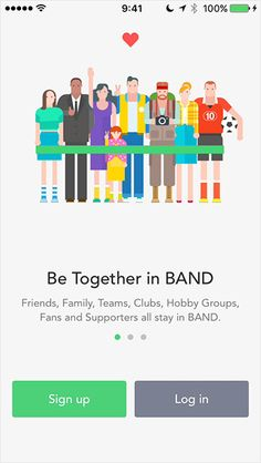 There is a group communication app called Band that can be used as a perfect alternative for all these apps. I'm sure that you will end up loving the app. Web Design Trends, Ui Design, Layout Design, Fb Sign, Band App, Empty State, App Login, Web Layout, Mobile Design