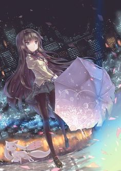 Puella Magi Madoka Magica- Homuera Akemi. She reminds so much of myself, especially while she still wears glasses.