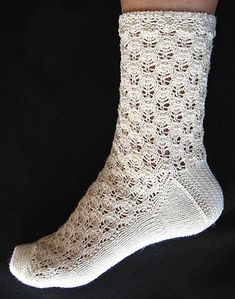Ravelry: Early Spring by bogiebogie in Crystal Palace Yarns Panda Cotton I like this pattern with the lace going down the top of the foot. Crochet Socks, Knitted Slippers, Knit Socks, Knit Crochet, Loom Patterns, Knitting Patterns Free, Free Pattern, Crochet Patterns, Lace Knitting