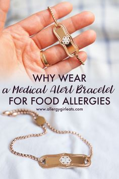 Why you should wear a medical alert bracelet for food allergies. Food allergy tips from an adult food allergy kid! Insulin Resistance Diet, Gluten Free Drinks, Kids Allergies, Medical Id Bracelets, Food Intolerance, Tips, Free Products, Asthma, Wellness