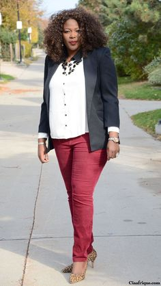 Plus Size Women | Plus size fashion for women Plus size fashion and style: Burgundy ...