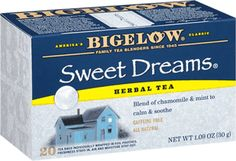 Soothe your soul with Bigelow Sweet Dreams® Herbal Tea. #BigelowTea #tea #relaxing #herbaltea #caffeinefree #bedtime