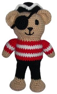 ♥♥ Free Crochet Pattern: Pirate Teddy Bear (NOTE: You have to sign up for newsletter to get pattern.)