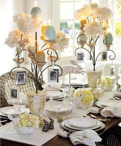 #Easter Decorating: Table Settings http://www.kansascitysteaks.com/Easter-Dinner.2.htm