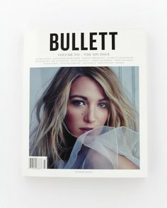 Bullett cover // blake lively // layout // cover // graphic design // print // art // magazine covers