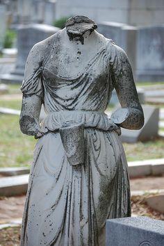 Headless woman, Oakland Cemetery, Atlanta, GA