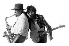 """Clarence Clemons et Bruce Springsteen, sur la pochette de """"Born to run"""""""