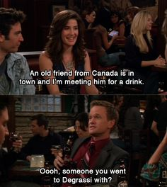 Show. ( obviously himym and not degrassi - just clarifying) How I Met Your Mother, Tv Quotes, Movie Quotes, I Smile, Make Me Smile, Canada Jokes, Himym, I Meet You, Just For Laughs
