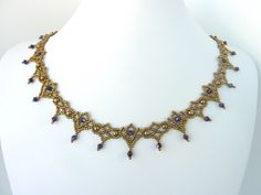 FREE beading pattern for necklace Crystal Lace