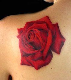 red rose tattoo by Tiffany Garcia