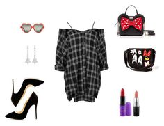 Minnie Mouse by fashionistaintraining1 on Polyvore featuring moda, Boohoo, Kate Spade, Loungefly, CZ by Kenneth Jay Lane, Cutler and Gross and MAC Cosmetics