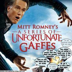 LOL! Myth Romney the gaffe artist. #MythRomney #LOL