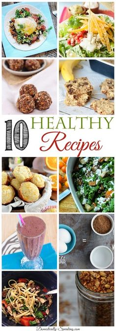 10 Healthy Recipes for the New Year… Feature Friday via @domesticallyspeaking