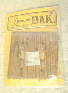 New In Package Dead Stock Genuine Oak Decor Plates Two Switch Style Missing screws Rustic Country Charm Simple Stain Warm Brown Color BIN by HerOptionsforYou on Etsy