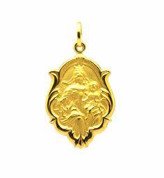 e19b833080875 Medalha Nossa Senhora do Carmo Barroca Ouro - Marcio Joalheiros   Marcio  Joalheiros