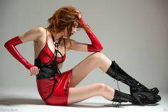Dress: Alternative Off Fashion Store  www.etsy.com/shop/LatexShop www.paweltumilowicz.com #latex #fetish #lateks #valentines  Photo: Marcin Kilarski Model: Selene