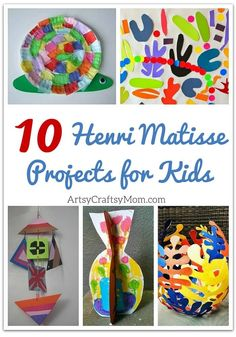 Top 10 Henri Matisse Projects for Kids The artist Henri Matisse worked on paintings, sculptures and collages. These 10 Matisse projects for kids will inspire them to create their own masterpieces! Henri Matisse, Matisse Art, Kindergarten Art, Preschool Art, Kindergarten Sculpture, Projects For Kids, Art Projects, History Projects, School Projects