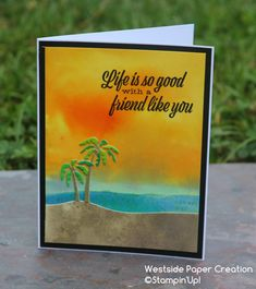 The Friends Like You bundle was just perfect paired with Pigment Sprinkles for a Sunset on The Beach Beach Cards, Childhood Movies, Beach Friends, Stampin Up Catalog, Cards For Friends, Hero Arts, Stamping Up, Homemade Cards, Stampin Up Cards