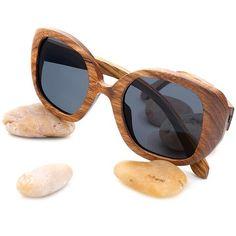 93b38785adb Oversized Butterfly Bamboo Wood Sunglasses
