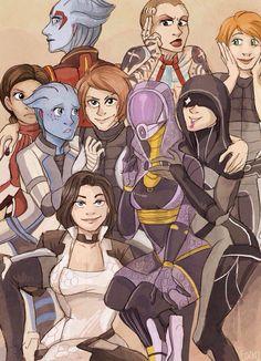 Femshep,Commander Shepard,ME персонажи,Mass Effect,фэндомы,Tali,Miranda Lawson,Kasumi Goto,Kelly Chambers,Ashley Williams,Liara,Samara,Jack